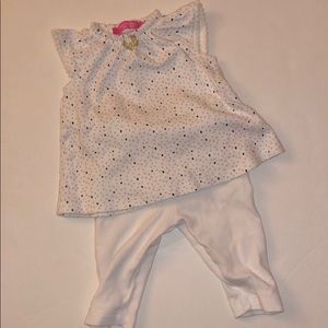 Isaac mizrahi baby girl outfit size 3-6 months
